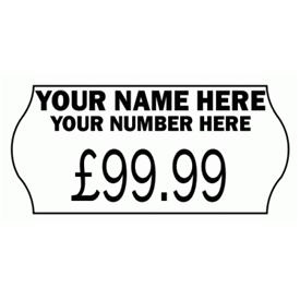 Have your name and number personalised on your Price Labels.